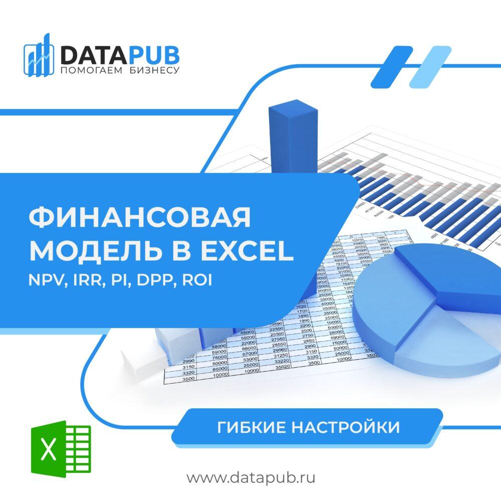 datapub ru finansovaya model v excel raschet npv irr dpp pi